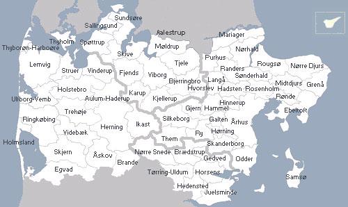 Regionen Pa Kort Region Midtjylland