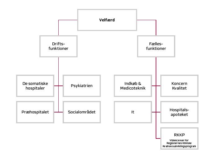 Velfærds organisationsdiagram.