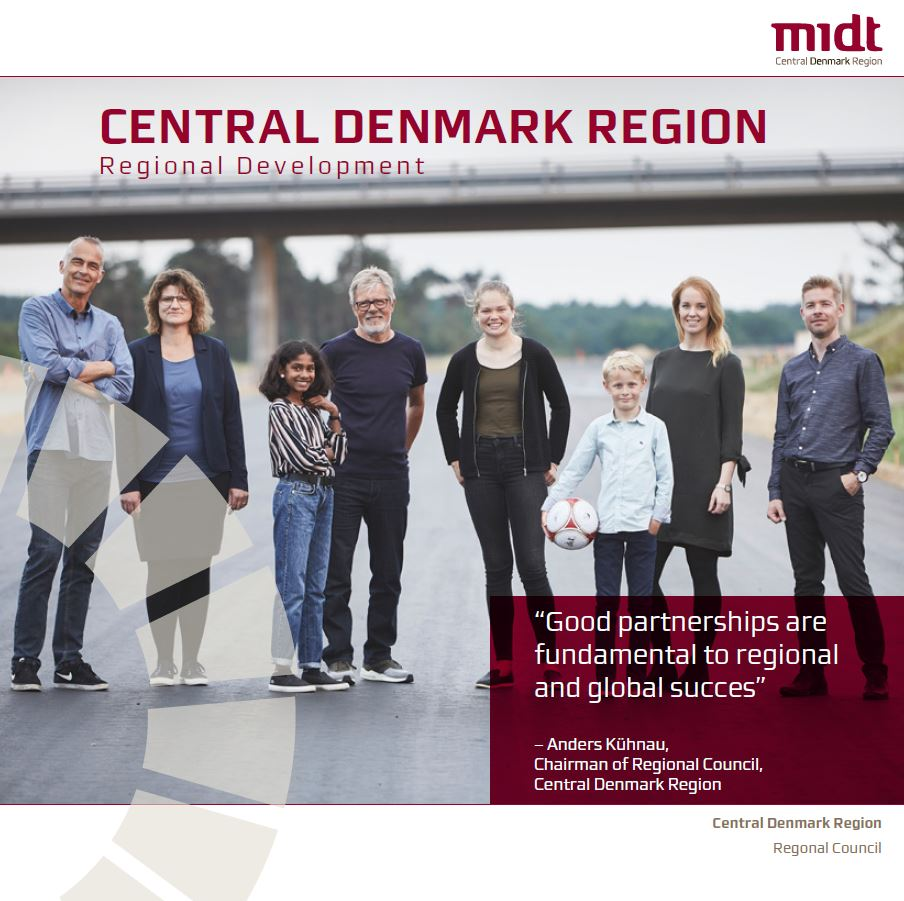 Flyer about Central Denmark Region and Regional Development